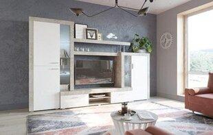 Sektsioon Tuckano Warsaw 298 cm, hall/valge hind ja info | Sektsioonid | kaup24.ee