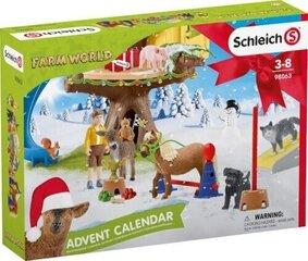 Advendikalender Schleich Farm World, 98063 hind ja info | Kokkupandavad mänguasjad | kaup24.ee
