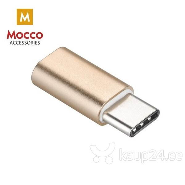 Mocco Lightning to USB Type C Adapter Golden