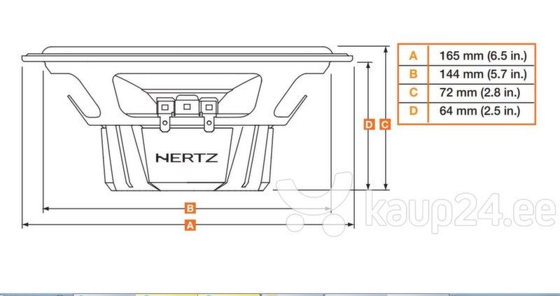 Autokõlarid Hertz DCX 165.3 hind