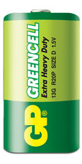 GP Greencell patarei R20 (D)
