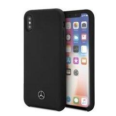 Ümbris Mercedes MEHCI61SILBK Apple iPhone XR must hind ja info | Telefoni kaaned, ümbrised | kaup24.ee