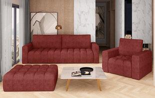 Pehme mööbli komplekt NORE Lazaro 10, punane hind ja info | Pehme mööbli komplektid  | kaup24.ee