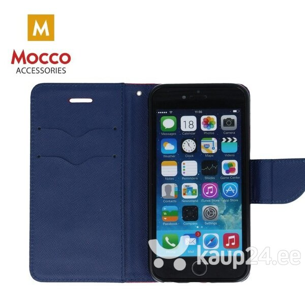 Mocco Fancy Book Case For Apple iPhone XS / X Sarkans - Blue Internetist