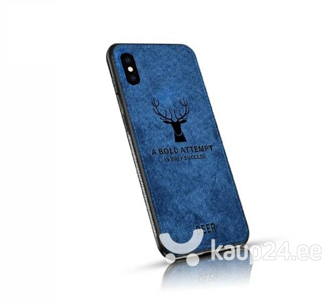 Mocco Deer Silicone Back Case for Apple iPhone XS Max Blue (EU Blister) hind