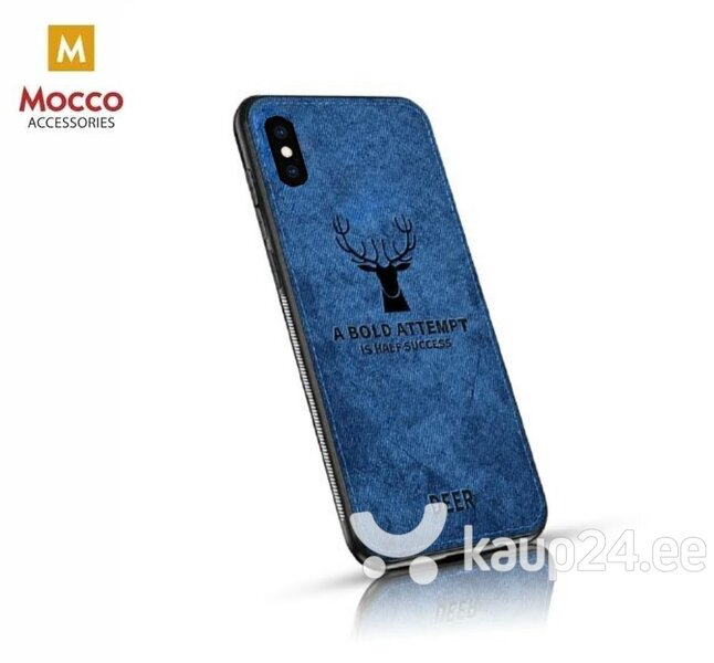 Mocco Deer Silicone Back Case for Apple iPhone XS Max Blue (EU Blister) hind ja info | Telefoni kaaned, ümbrised | kaup24.ee