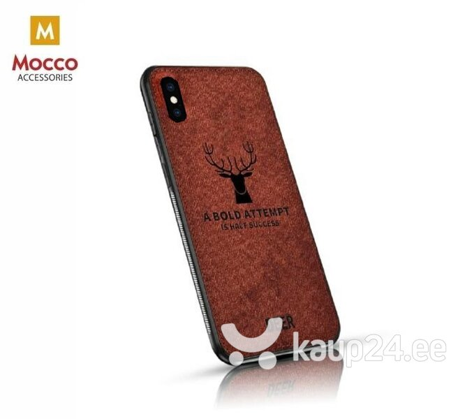 Mocco Deer Silicone Back Case for Apple iPhone XS Max Brown (EU Blister) hind ja info | Telefoni kaaned, ümbrised | kaup24.ee
