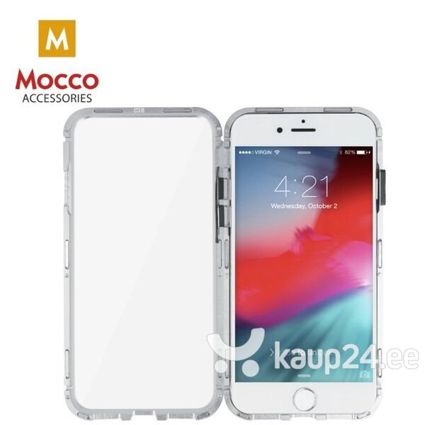 Mocco Double Side Aluminum Case 360 With Tempered Glass For Apple iPhone 6 Plus / 6S Plus Transparent - Silver hind ja info | Telefoni kaaned, ümbrised | kaup24.ee