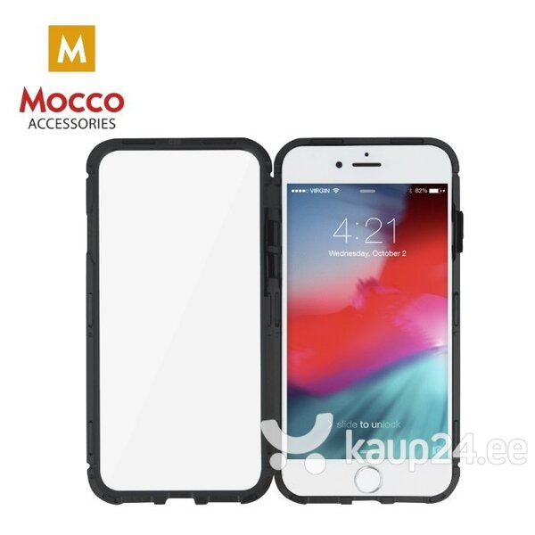 Mocco Double Side Aluminum Case 360 With Tempered Glass For Apple iPhone 6 / 6S Transparent - Black hind ja info | Telefoni kaaned, ümbrised | kaup24.ee