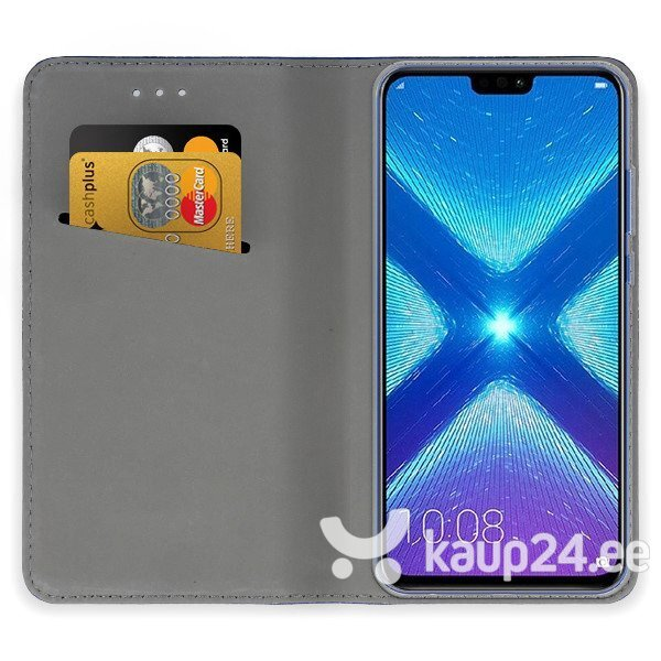 Mocco Smart Magnet Book Case For LG G7 / LG G7 ThinQ Blue hind