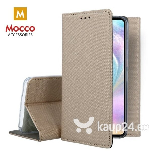 Mocco Smart Magnet Book Case For Huawei Honor View 20 / Huawei Honor V20 Gold hind ja info | Telefoni kaaned, ümbrised | kaup24.ee