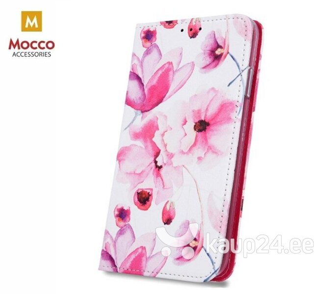 Mocco Smart Trendy Book Case For Samsung G960 Galaxy S9 Pink Flowers hind ja info | Telefoni kaaned, ümbrised | kaup24.ee