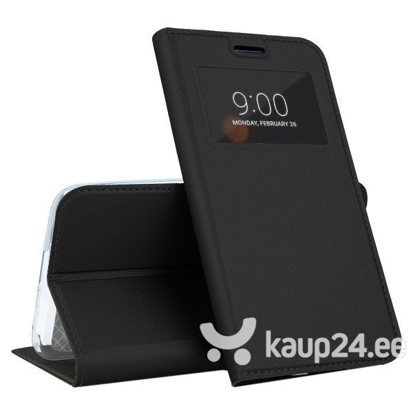 Mocco Smart Look Magnet Book Case With Window For Apple iPhone X / XS Black tagasiside