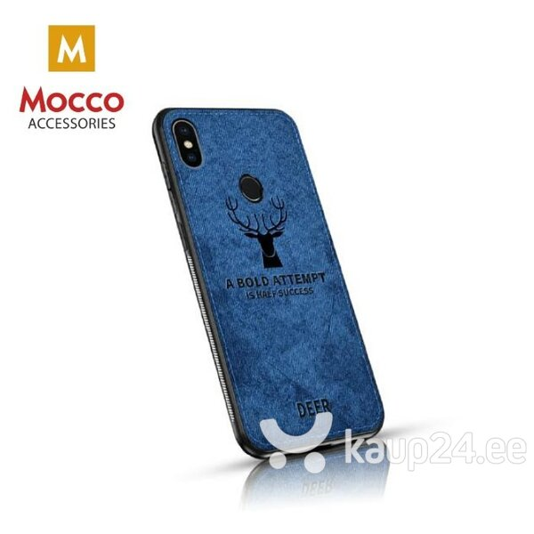 Mocco Deer Silicone Back Case for Samsung A920 Galaxy A9 (2018) Blue (EU Blister) hind ja info | Telefoni kaaned, ümbrised | kaup24.ee