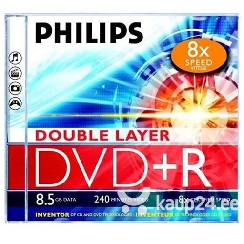 Philips DVD+R DL 8.5GB JEWEL CASE