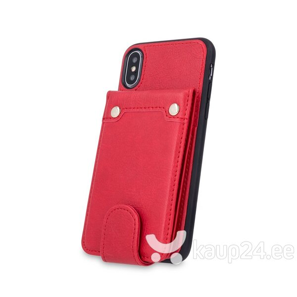 Mocco Smart Wallet Eco Leather Case - Card Holder For Apple iPhone 6 / iPhone 6S Red