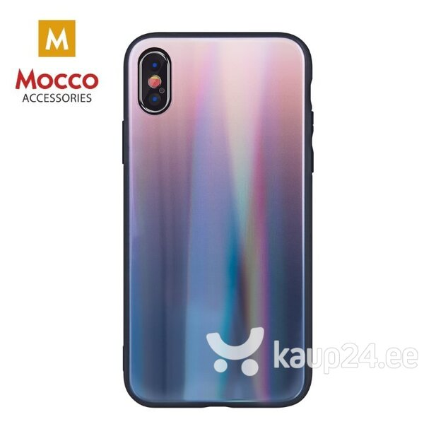 Mocco Aurora Glass Silicone Back Case for Apple iPhone XS Max Brown - Black hind ja info | Telefoni kaaned, ümbrised | kaup24.ee