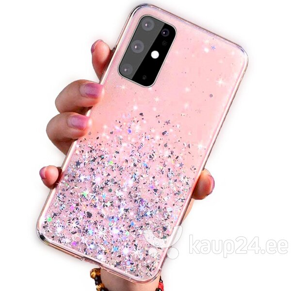 Silikoonist telefoniümbris Fusion Glue Glitter Back Case Apple iPhone 12 Mini, roosa
