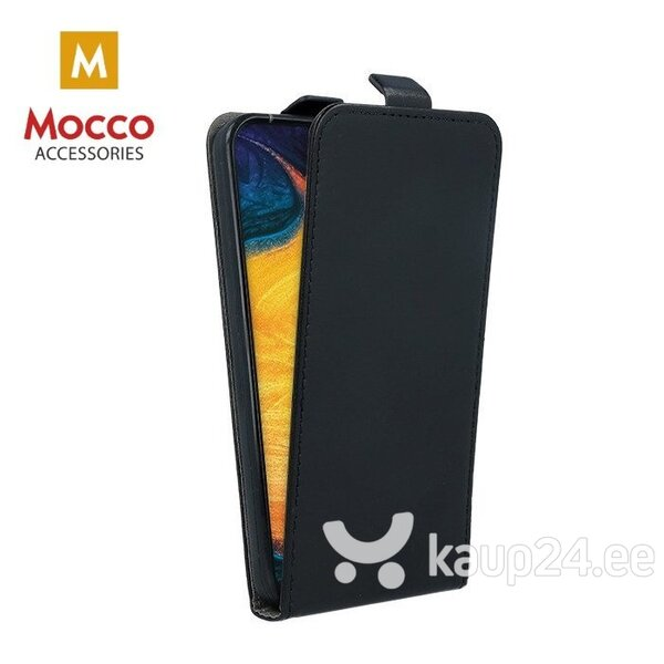Mocco Kabura Rubber Case Vertical Opens Premium Eco Leather Case Samsung A205 Galaxy A20 / Galaxy A30 Black hind ja info | Telefoni kaaned, ümbrised | kaup24.ee