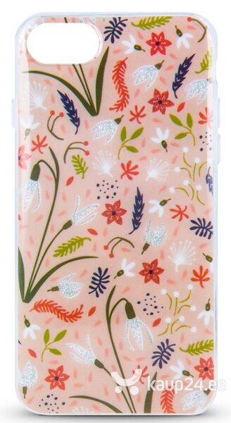 Mocco Spring Case Silicone Back Case for Samsung A605 Galaxy A6 Plus (2018) Pink ( White Snowdrop ) hind