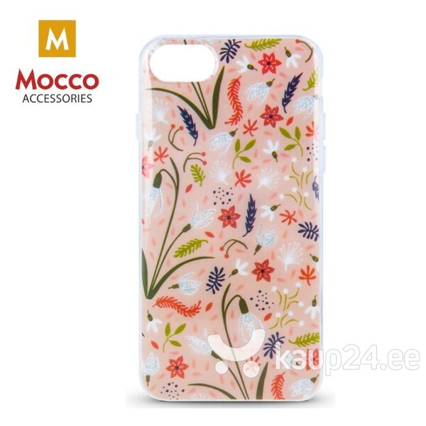 Mocco Spring Case Silicone Back Case for Samsung G960 Galaxy S9 Pink ( White Snowdrop ) hind ja info | Telefoni kaaned, ümbrised | kaup24.ee