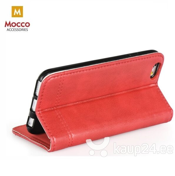 Mocco Smart Focus Book Case For Apple iPhone XS / X Red tagasiside