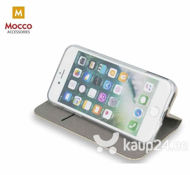 Mocco Smart Magnetic Book Case For Huawei Y6 / Y6 Prime (2018) Gold hind