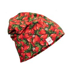 Puuvillane müts JOSKA maasikamustriline hind ja info | Puuvillane müts JOSKA maasikamustriline | kaup24.ee