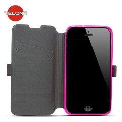 Kaitseümbris Telone Super Slim Shine Book sobib Samsung Galaxy S7 (G930F), roosa