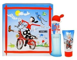 Komplekt Moschino Cheap & Chic I Love Love: EDT naistele 30 ml + ihupiim 50 ml
