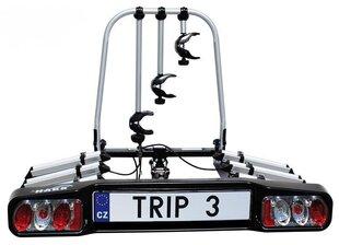 HAKR Trip 3 Middle jalgrattahoidik, 3 jalgratta kinnitamiseks auto konksu külge, kokkupandav hind ja info | Rattahoidjad | kaup24.ee