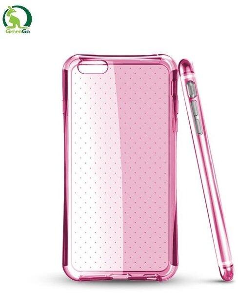 Kaitseümbris GreenGo sobib Samsung Galaxy S5/S5 Neo (G900/G903), läbipaistev/roosa