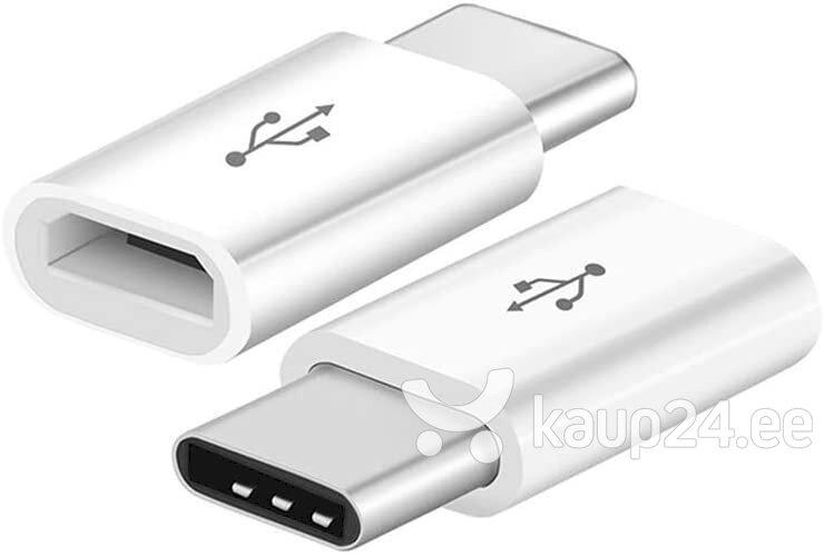 Fusion universaalne adapter Micro USB to USB Type-C (USB-C) ühendus, valge