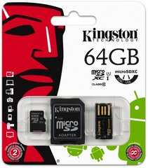 Mälukaart Kingston Multi-Kit microSDHC/SDXC 64GB (10 klass)