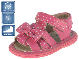 Tüdrukute sandaalid nahast Beppi 19-23 I, roosa  hind ja info | Imikute riided | kaup24.ee
