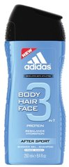 Dušigeel Adidas After Sport 3in1 meestele 250 ml