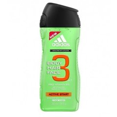 Dušigeel Adidas Active Start 3in1 meestele 250 ml