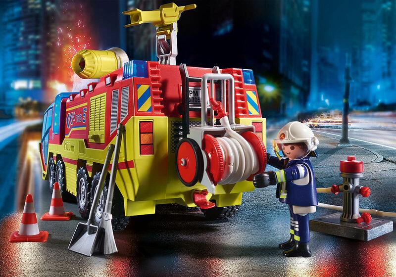 70557 PLAYMOBIL® City Action Tuletõrjeauto põleva džiibiga