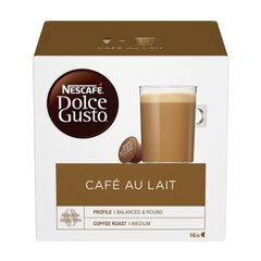 Kohvikapslid Nescafe Dolce Gusto Cafe Au Lait,16 tk hind ja info | Kohvikapslid Nescafe Dolce Gusto Cafe Au Lait,16 tk | kaup24.ee