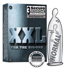Kondoomid Secura XXL, 3 tk