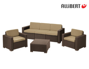Plastikus aiamööbli komplekt AlliBert California​ 3 Seater Set