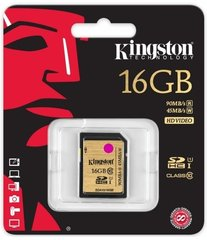 Kingston 16 GB SDHC, UHS-I Class