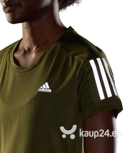 Spordisärk naistele Adidas Own The Run Tee Women GJ9982 GJ9982, roheline Internetist