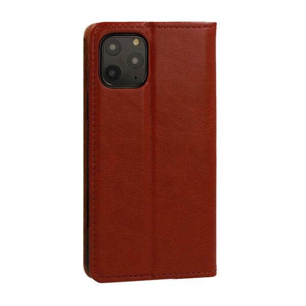 Telefoniümbris Leather book Samsung Galaxy S9 Plus, pruun tagasiside