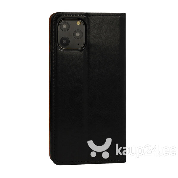 Telefoniümbris Leather book Huawei P20 Lite 2019, must hind