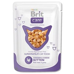Konserv kassidele BRIT CARE Kitten Chicken & Cheese 80g