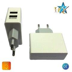 Universaalme HQ toalaadija USB 2.1A/1A, valge