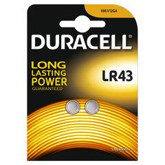 Patareid Duracell LR43 2 tk