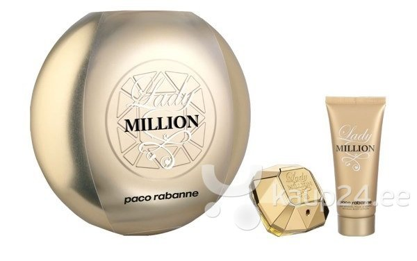 Komplekt Paco Rabanne Lady Million: EDP naistele 80 ml + ihupiim 100 ml