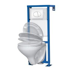 WC комплект K50 Kerra: унитаз + рама + кнопка + soft-close крышка